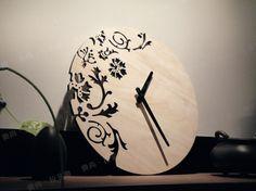 mode houten klok wandklok mode wandklok kunst klok rustieke mute wol