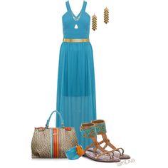 """Maxi Dress"" by tamidiva on Polyvore"