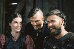 Millie Brady as Aethelflaed, Arnas Fedaravicius as Sihtric and Mark Rowley as Finan in The Last Kingdom Season 4 The Last Kingdom Actors, Your Best Friend, Best Friends, Millie Brady, Uhtred Of Bebbanburg, Ragnar Lothbrok Vikings, Viking Baby, Medieval World, Outlander
