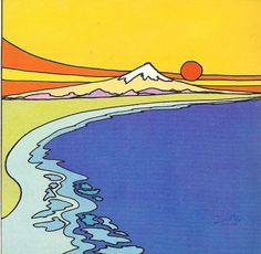 "2 Peter Max ""Zen highest mountain"" Pop Art prints and LIBERTY both 7 by 7 great…"