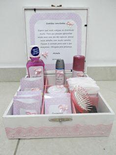 Kit de banheiro cor-de-rosa (Michelle e João Paulo)!