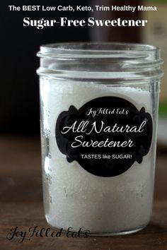 mix sweetener that substitutes for Gentle Sweet in all your favorite Trim Healthy Mama recipes. It's the perfect blend of xylitol, erythritol, and stevia. It is twice as sweet as sugar Thm Recipes, Ketogenic Recipes, Stevia Recipes, Trim Healthy Recipes, Budget Recipes, Healthy Alternatives, Cream Recipes, Recipes Dinner, Potato Recipes