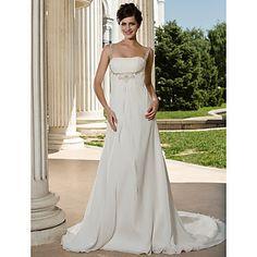 A-line Straps Court Train Chiffon Wedding Dress – USD $ 268.79-- I don't get it. Is lightinthebox.com too good to be true?