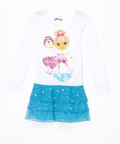 Look at this #zulilyfind! White Lalaloopsy Tiered Ruffle Dress - Toddler & Girls by Intimo #zulilyfinds