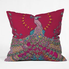 DENY Designs Geronimo Studio Red Peacock Throw Pillow, 16-Inch by 16-Inch DENY Designs,http://www.amazon.com/dp/B008C7ZR4M/ref=cm_sw_r_pi_dp_MxqGtb0CZC12P37N