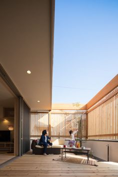 Japanese Modern House, Japanese Home Design, Modern Zen House, Terrace Design, House Goals, Future House, Interior Architecture, Building A House, Home Fashion