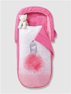Sac de couchage fille avec matelas intégré + tête de lit  - vertbaudet enfant