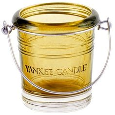 Shop for Yankee Candle Glass Bucket Votive Holder Emerald, Green, X X Cm. Yankee Candle Holders, Votive Candle Holders, Yankee Candles, Yankee Candle Christmas, Candle Store, Glass Candlesticks, Candle Making, Scented Candles, Tea Lights