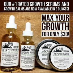 Maximize your growth and savings while buying our growth pack. Get one ounce of natural growth balm and one ounce of natural growth serum with no chemicals or synthetic fragrances. $34.99 while supplies last! Click the link on our bio to go to our website