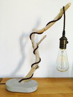 Ein persönlicher Favorit aus meinem Etsy-Shop https://www.etsy.com/de/listing/385431158/vintage-treibholzlampe-mit