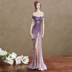 Purple Lady Figurines | you might also consider rosalynn lavender table lamp ivory lavender ...