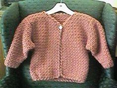 Girl's In A Jiffy Jacket free crochet pattern