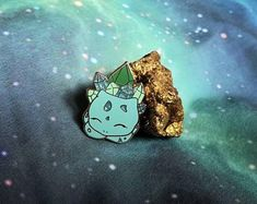 Your place to buy and sell all things handmade Pokemon Pins, Anime Dress, Holiday Break, Bulbasaur, Pin And Patches, Handmade Items, Handmade Gifts, Black Rubber, Things To Buy