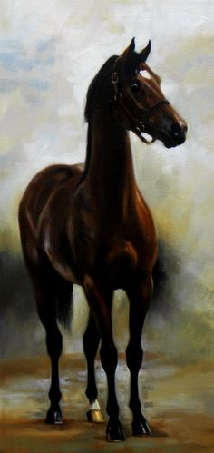 Horse Art: The Yearling || Copyright Janet Crawford || equineartwork.com