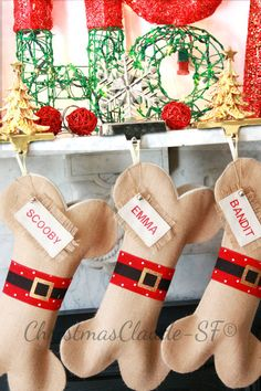 Personalized Christmas Stocking Unique holiday by ChristmasClaude