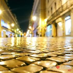 Golden breathed cobblestones of the Rua Augusta... reflections of heaven's seeds planted here... growing in gardens of sweet bliss... xo