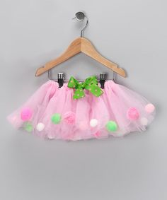 Take a look at this Pink Pom-Pom Tutu - Infant, Toddler & Girls by Easter Boutique on #zulily today!