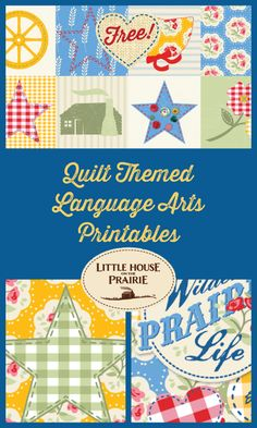 Quilting was more than a pasttime - it was a teaching tool! These quilt #printables teach language arts.