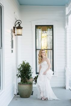 Romantic strapless wedding dress in lace with blush pink lining. Perfect for the romantic bride and a garden wedding. Photo by Kristi Wright of Wedding Ceremony, Our Wedding, Dream Wedding, Austin Wedding Venues, Intimate Weddings, Destination Wedding Photographer, Bridal Style, Garden Wedding, Wedding Photos