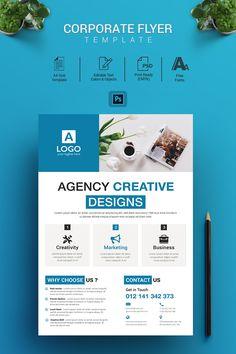 Agency Creative - Corporate Flyer _________________________________________________________________________________________________________________________This Corporate Design, Graphic Design Brochure, Logo Design, Design Poster, Corporate Flyer, Corporate Identity, Poster Designs, Design Agency, Design Art