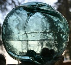 """buddhabrot:    found on the Coast of the Aleutians, spindle inside a 4"""" glass float"""