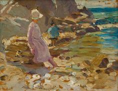 Dorothea Sharp (1874–1955) - Woman and Child on the Rocks
