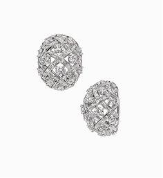 Harry Winston | The Incredibles | Vintage Jewelry | Earrings | Estate Diamond Lattice Earrings