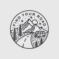 Ideas For Travel Drawing Doodles Travel Drawing, Camping Drawing, Tattoo Inspiration, Hand Lettering, Tatoos, Art Drawings, Tattoo Designs, Finding Yourself, Artsy