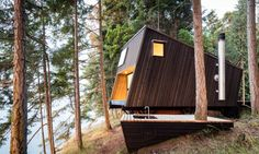 Solar-powered seaside cabin blends prefab design with traditional building techniques | Inhabitat - Green Design, Innovation, Architecture, Green Building