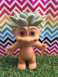 Hey, I found this really awesome Etsy listing at https://www.etsy.com/listing/227992489/troll-doll-planter-succulent-planter