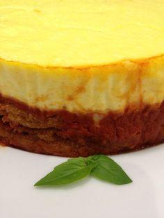 Eggplant parmigiana cheesecake