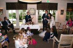 Lots of kids at the wedding ceremony