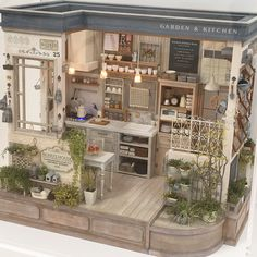 miniature kitchen Miniature Garden Kitchen Dollhouse By Nunus House In specialhappiness