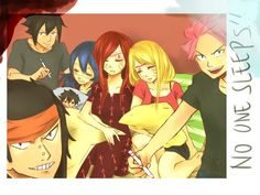 fairy tail, nalu, and erza lol