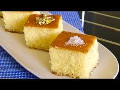 Feta and Parsley Cheese Bread - Poğaça Tarifleri - Turkish Cuisine Basbousa Cake Recipe, Semolina Recipe, Semolina Cake, Gourmet Recipes, Sweet Recipes, Cake Recipes, Snack Recipes, Dessert Recipes, Arabic Sweets