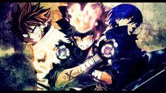 anime cross over natsu fairy tail tsuna sawada reborn hei darker than black