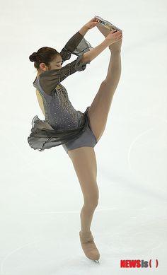 Yuna Kim Black Figure Skating Ice Skating Dress