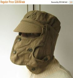 Vintage Military Hat Authentic Hat War Memorabilia by MyBootSale Air Force Clothing, Steampunk Gas Mask, Military Gear, Military Clothing, Vintage Military Uniforms, Military Outfits, New Fashion, Vintage Fashion, Army Clothes