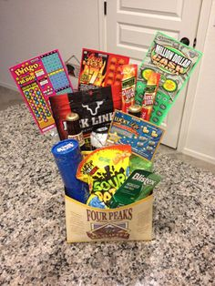 Tackle-box alternative to an Easter basket for the adventurous boy in your life., alternative to an Easter basket for the adventurous boy in your life. , Tackle-box alternative to an Easter basket for Kids Gift Baskets, Easter Baskets, Tackle Box, Bingo, Birthday Gifts For Husband, Husband Gifts, Boyfriend Birthday, Birthday Presents, Diy Ostern