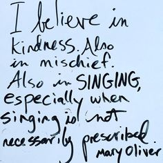 Mary Oliver has a way of making me feel like she knows me. You too? ...