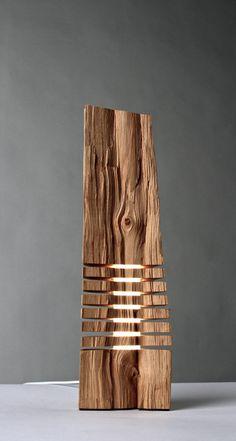 Sculpture sur bois Sculpture bois minimaliste beaux-arts sur base acrylique lumineux