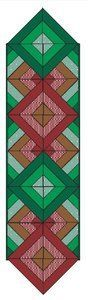 Diamonds and Chevrons Table Runner | FaveQuilts.com