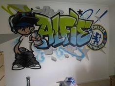 children / teen / Kids Bedroom Graffiti mural - #handpainted #graffiti…