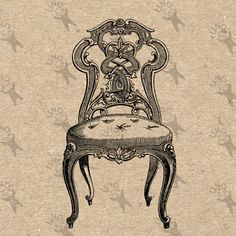 Antique Chair Seat image Vintage picture Instant Download printable clipart digital graphic burlap totes tea towels paper transfer HQ300dpi by UnoPrint on Etsy #hq #png #bw #Ephemera #diy #old #book #illustration #gravure #transfer #decor #hand #digital #collage #scrapbooking #quality #inspiration #retro #antique #vintage #300dpi #craft #draw #drawing  #black #white #printable #crafts
