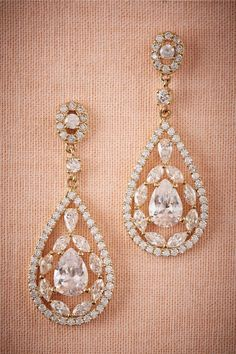 BHLDN Astoria Chandelier Earrings in Shoes & Accessories Jewelry Earrings at BHLDN