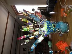 21st birthday liquor bouquet.