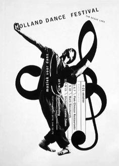 Studio Dumbar – Poster series for Holland Dance Festival. Winner of the prestigious Dutch 'Rotterdam Design Prize' Graphic Design Posters, Graphic Design Typography, Graphic Design Illustration, Graphic Design Inspiration, Poster Designs, Digital Illustration, Design Ideas, Web Design, Layout Design