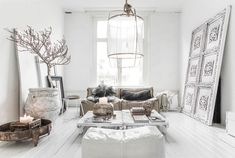 From boho to minimalist, find some chic white interior inspiration for your home… Decor, House Design, Home Living Room, Interior, Home Decor, House Interior, White Interior, Living Decor, Home And Living