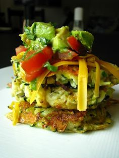 spicy zucchini fritters w/ chopped guacamole | two foodies & a pup