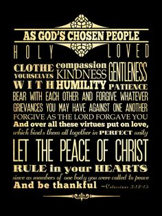 Colossians 3.12-15